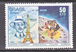 BRAZIL  1138    **  SANTOS=DUMONT  MOON  LANDING - Brazil
