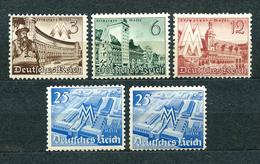 Deutsches Reich 1940, MiNr 739-742 + 742 Extra; MNH ** - Allemagne