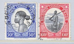 BELGIUM  CONGO  226-7  (o) - Belgian Congo