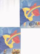 MAXI CARD FLAGS ROMANIA  Revolution Of Timisoara DECEMBRE 1989