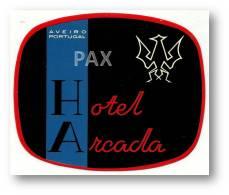 AVEIRO - HOTEL ARCADA ( 10,6 X 8,8 Cm ) - PORTUGAL - VINTAGE LUGGAGE LABEL - 2 SCANS - Etiquettes D'hotels
