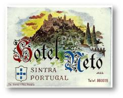 SINTRA - HOTEL NETO ( 10,9 X 8,3 Cm ) - PORTUGAL - VINTAGE LUGGAGE LABEL - 2 SCANS - Etiquettes D'hotels