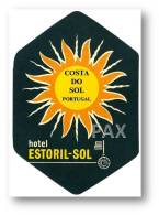 ESTORIL - HOTEL ESTORIL-SOL ( 7,7 X 11,2 Cm ) - PORTUGAL - VINTAGE LUGGAGE LABEL - 2 SCANS - Etiquettes D'hotels