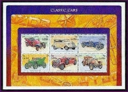 MINT NEVER HINGED MINI SHEET OF CLASSIC CARS ; FIRE ENGINES ( GAMBIA   1746
