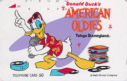 Télécarte Japon / 110-85786 - DISNEY Disneyland - Série American Oldies - Donald Duck - Japan Phonecard Telefonkarte - Disney