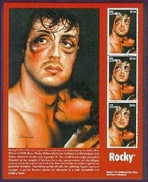 MINT NEVER HINGED 4/ SHEET OF SYLVESTER STALLONE IN ROCKY ( GAMBIA   1848
