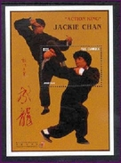 MINT NEVER HINGED 4/ SHEET OF JACKIE CHAN ; ACTION KING ( GAMBIA   1869