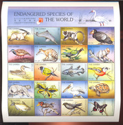 MINT NEVER HINGED M/ SHEET OF ENDANGERED SPECIES OF THE WORLD ; HONG KONG '97 ( GAMBIA   1871**
