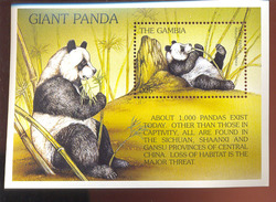 MINT NEVER HINGED S/ SHEET OF ENDANGERED SPECIES OF THE WORLD ;PANDA ( GAMBIA   1872