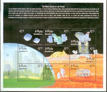 Maldives 2000 Mi#3354-3362 MNH Cv Eur10 Space