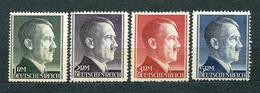 Deutsches Reich 1942, MiNr 799-802 (799 B, 800 A, 801 A, 802 A); MNH **, Catalogue Value: 19.50 Euro - Allemagne