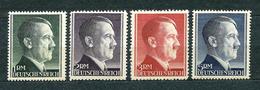 Deutsches Reich 1942, MiNr 799-802 MNH ** / MH * (799 B **, 800 A **, 801 A **, 802 B *); Catalogue Value: 16.50 Euro - Allemagne