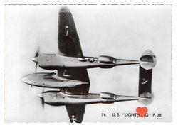 """14053-LE-AVIONS-U.S. LOCKHEED  """" LIGHTNING """" P 38-Utilisé Pour La Chasse,escorte - 1946-....: Moderne"""