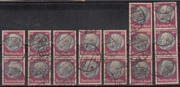 Pairs & Strips Used ., President Hindenburg, Germany,'Deutsches Reich'  1933 Postmark, Postmarks