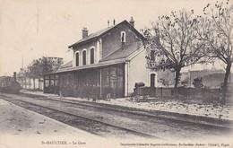 36----RARE---ST-GAULTIER---la Gare---(arrivée D'un Train )--voir 2 Scans - France