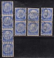 25pf Pairs 1932 Varities, Postmark Etc., President Hindenburg, Germany,'Deutsches Reich'