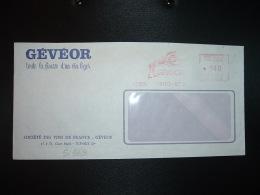 LETTRE EMA M 3506 à 140 Du 30 XII 74 PARIS 57 + GEVEOR Toute La Finesse D'un Vin Léger