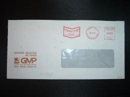 LETTRE EMA T 1482 à 0080 Du 22 10 74 PARIS RP + GMP GRANDS MOULINS DE PARIS + TAMISEE FARINE
