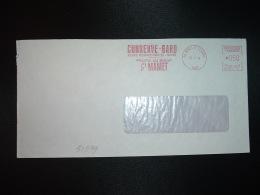 LETTRE EMA NA 18775 à 050 Du 12 7 74 NIMES ST CESAIRE (30) CONSERVE-GARD FRUITS AU SIROP St MAMET