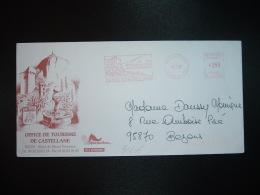 LETTRE EMA P 120048 à 350 Du 16 6 97 CASTELLANE (04) Porte Des Gorges Du Verdon Sur La Route Napoléon