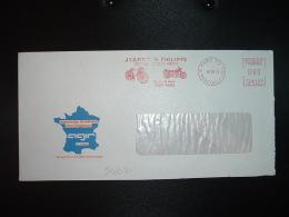 LETTRE EMA NE 2544 à 060 Du 18 10 74 PARIS 112 + JEANNE & PHILIPPE CYCLES CYCLO MOTO