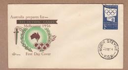 Australia  Royal FDC 1954  Melbourne Olympics - Blue Publicity