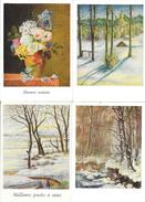 Lot De 12 Cartes: Peinture à La Bouche Ou Aux Pieds - Editions Artistiques Vivere - Fleurs Et Paysages - Cartes Postales