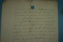 1707 Conflit Entre Jean-François De Bruges Et Moines Du Chapitre De Florennes (5) - Historische Dokumente