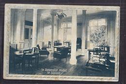 CPA 38 - ALLEVARD LES BAINS - LE SPLENDID HOTEL - Le Salon - TB PLAN + TAMPON Hôtel Verso TB Oblitération