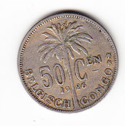 CONGO MORIN  93, 50ct,  1926 (CO12) - Congo (Belge) & Ruanda-Urundi