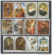 0690 S. Tomè E Principe 1983 Easter Pasqua Quadri Dipinti Da Rubens Raffaello Rembrandt Painting Tableaux
