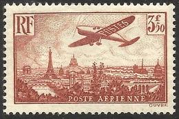 France - Poste Aérienne - Avion Survolant Paris - N° 13 Neuf Sans Charnière..