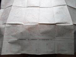 Belgie Stafkaart LUBBEEK - GLABBEEK-ZUURBEMDE 32/3-4 - 1/15.000 - 1956 ! - Europa