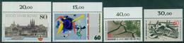 Bund 1989 / MiNr.   1402 , 1403 , 1404 , 1410  Oberränder  ** / MNH   (e505)