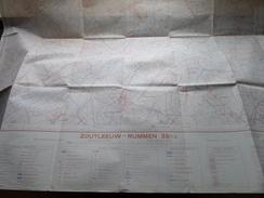 Belgie Stafkaart ZOUTLEEUW - RUMMEN 33/1-2 - 1/15.000 - 1956 ! - Europe