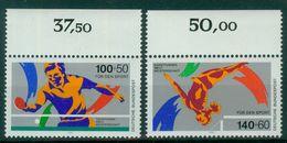 Bund 1989 / MiNr.   1408 – 1409  Oberränder  ** / MNH   (e506)