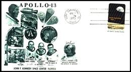 USA: 'Apollo-13 - Start, 1970' / 'Apollo13 In Space - Launch' 32920 Cape Canaveral