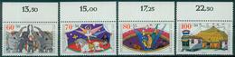 Bund 1989 / MiNr.   1411 – 1414  Oberränder  ** / MNH   (e507)