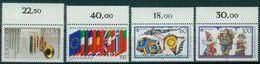 Bund 1989 / MiNr.   1415 , 1416 , 1417 – 1418  Oberränder  ** / MNH   (e508)
