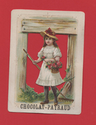 Chocolat Payraud Chromo Découpé Jeune Fille Bouquet De Roses Râteau Jardin - Chocolat