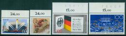 Bund 1989 / MiNr.   1419 , 1420 , 1421 , 1422  Oberränder  ** / MNH   (e509)
