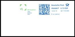 Bund / Germany: Zweifarbiger Stempel 'VfJ Werkstätten [12057 Berlin], 2016´ / Cancel In Two Colors 'Workshops'