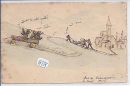 PONT-DE-BEAUVOISIN--  RARE CARTE DESSINEE- 1908
