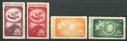 194 CHINE 1952 - Yvert 959/62 - Oiseau -  Neuf ** (MNH) Sans Trace De Charniere - 1949 - ... République Populaire