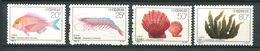 194 CHINE 1992 - Yvert 3111/14 - Poisson Crustace Coquille Algue -  Neuf ** (MNH) Sans Trace De Charniere - Ongebruikt
