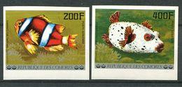 194 COMORES 1977 - Yvert A 128/29 Non Dentele - Poisson -  Neuf ** (MNH) Sans Trace De Charniere