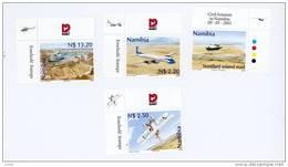 Namibie-2001-Avions Civils-hélicoptère-YT 927/930***MNH-sans Bord De Feuille