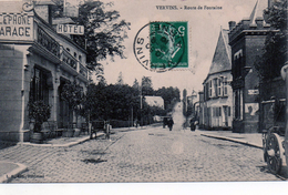 Cpa (02)  Vervins  --  Route  De  Fontaine - Vervins