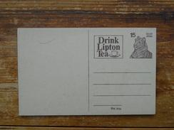 Postal Stationery, Thee.tea, Lipton, Tiger