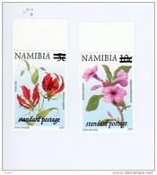 Fleurs-2 Valeurs Surchargées-Namibie-2002-YT 982/3***MNH